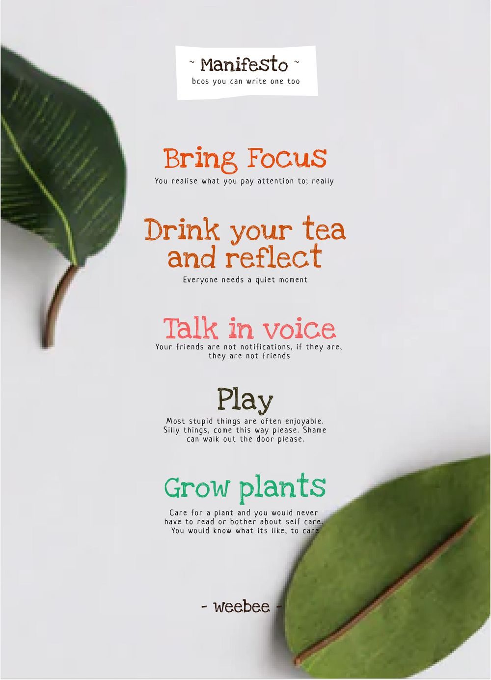 Manifesto by Varun - image 1 - student project