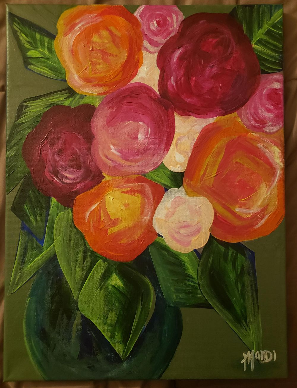 Abstract flower arrangement - image 1 - student project