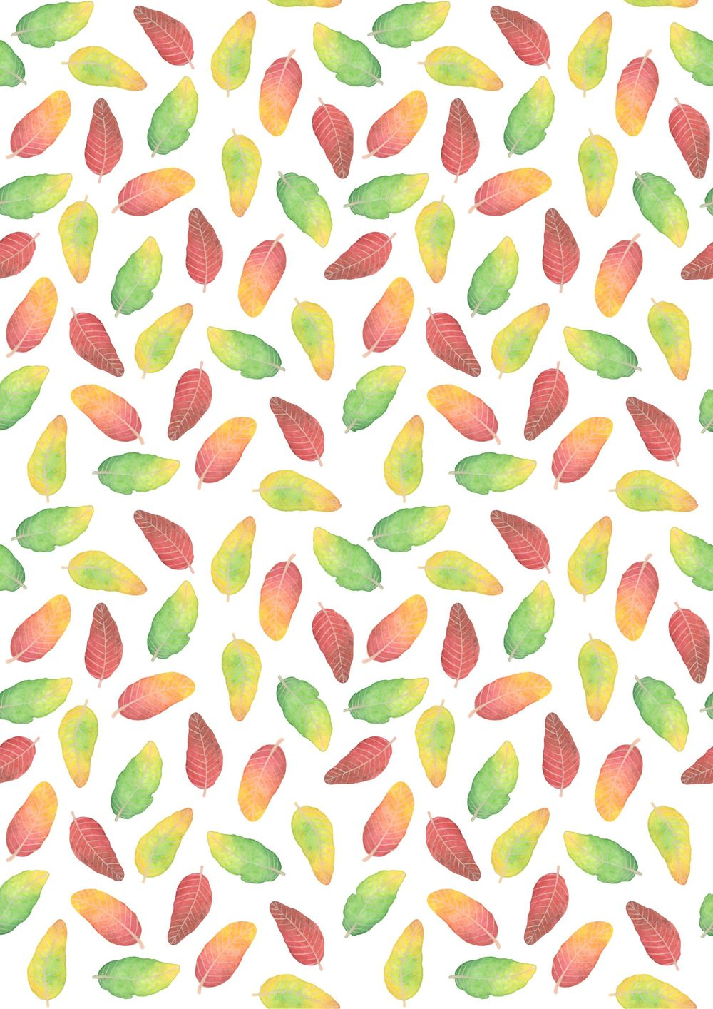 Watercolor leaves. - image 1 - student project