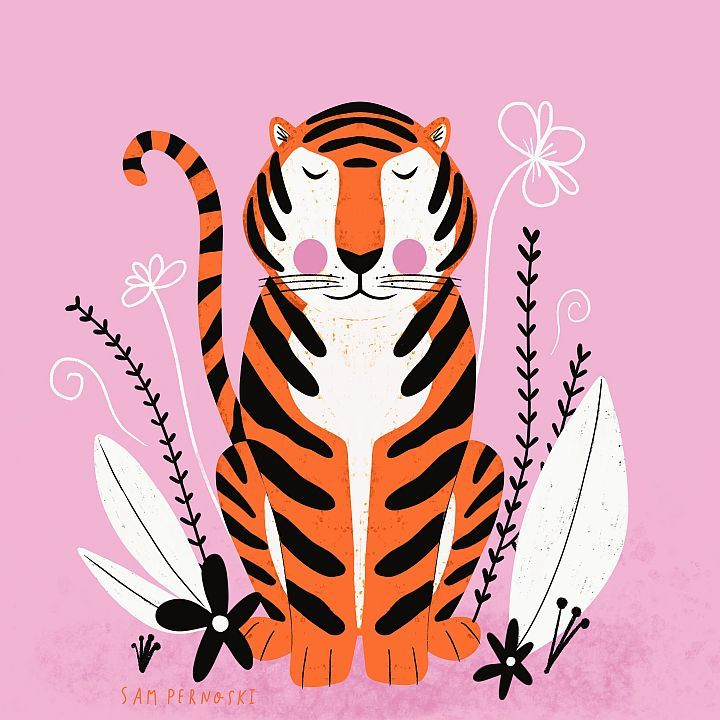 Symmetrical Tiger - image 1 - student project