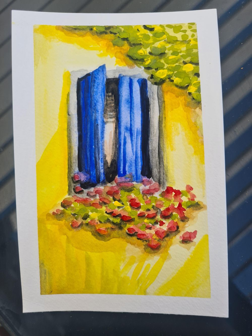 Using gouache with watercolour techniques - image 3 - student project