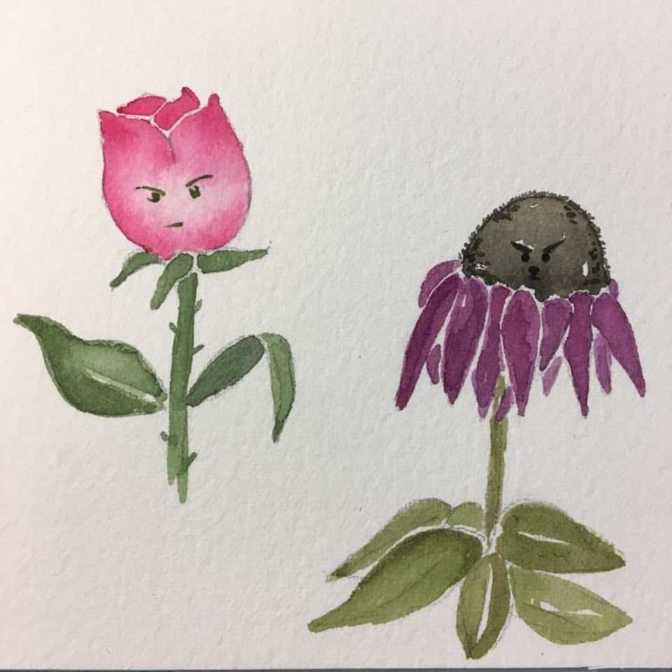 Teacher's example project: Grumpy Flowers - image 1 - student project