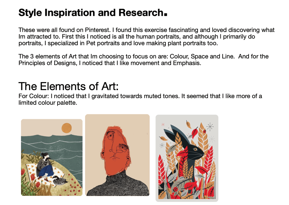 Style Inspiration and Research - Elements and Principles - image 1 - student project