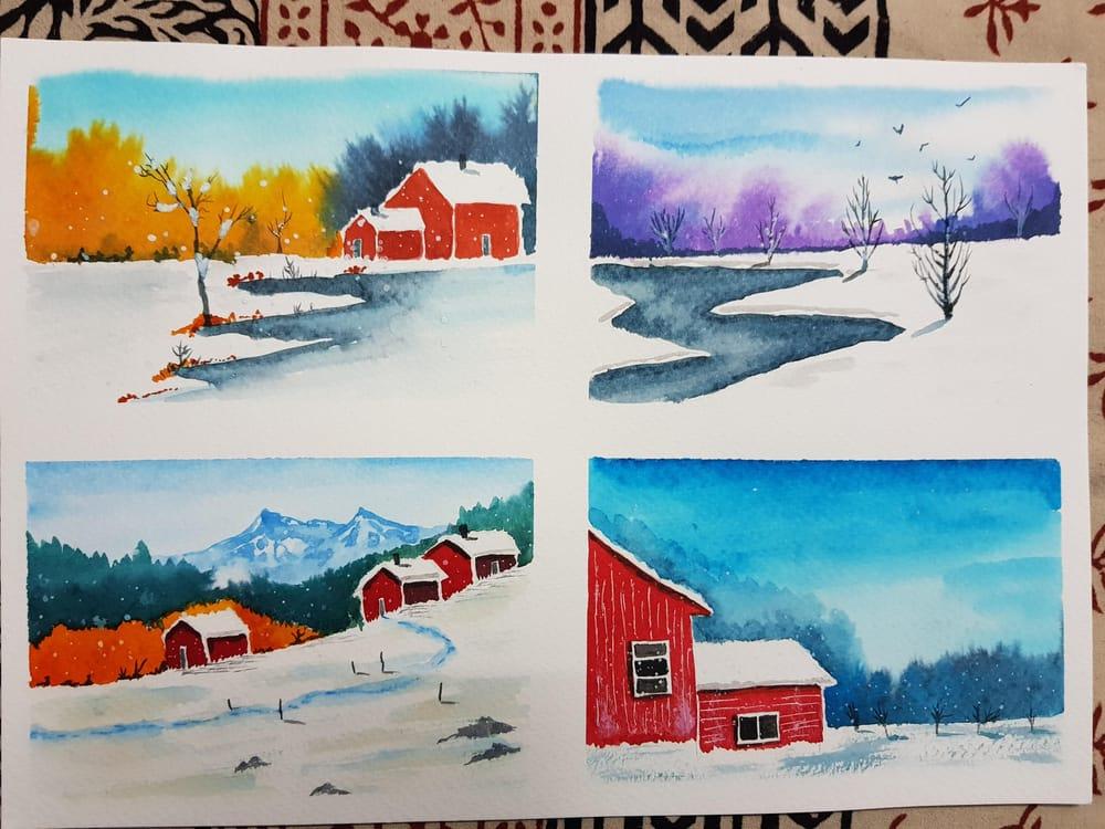 Wonderful winter landscapes - image 1 - student project
