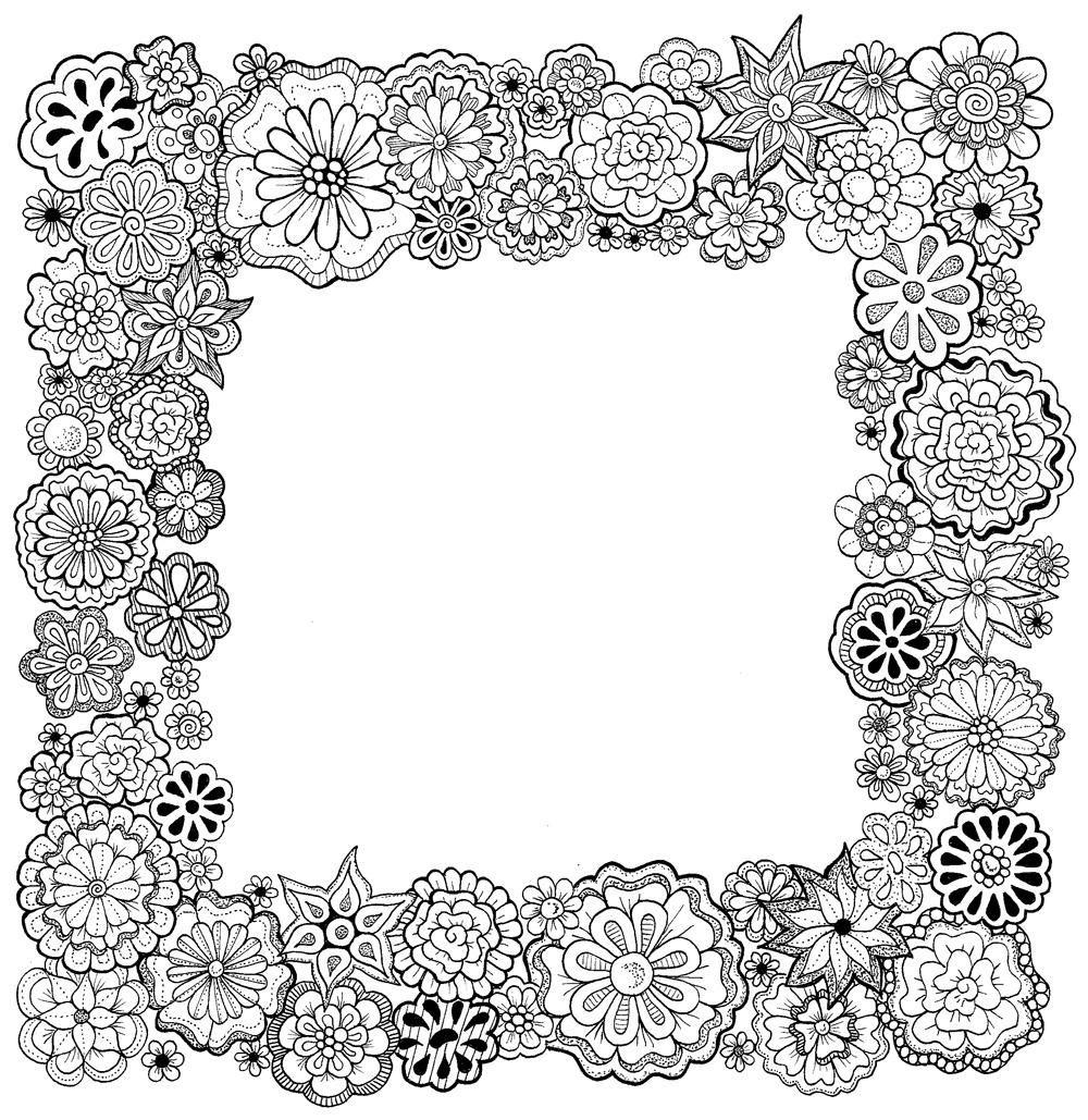 Floral Frame - image 2 - student project