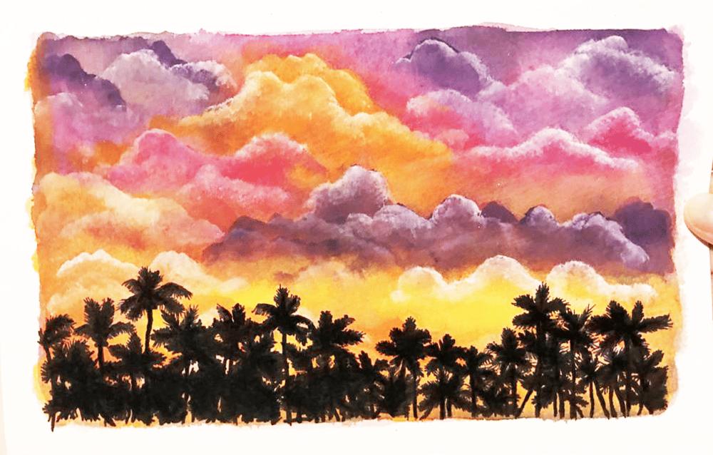 I love painting cumulus limbus ! - image 3 - student project