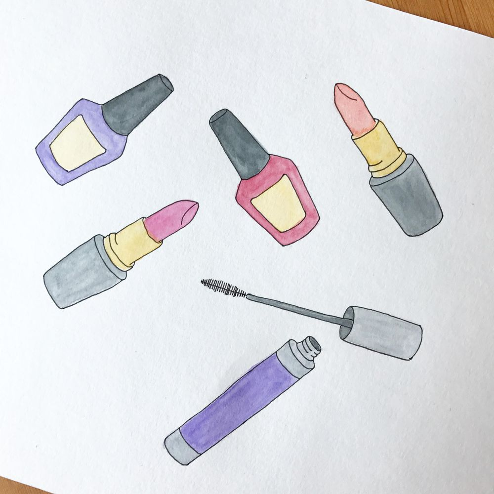 Simple Watercolor Pattern - image 2 - student project