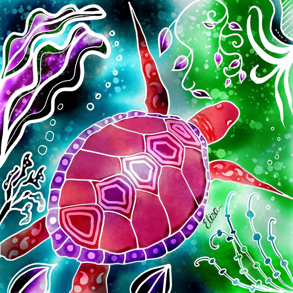 Purple turtle - image 1 - student project