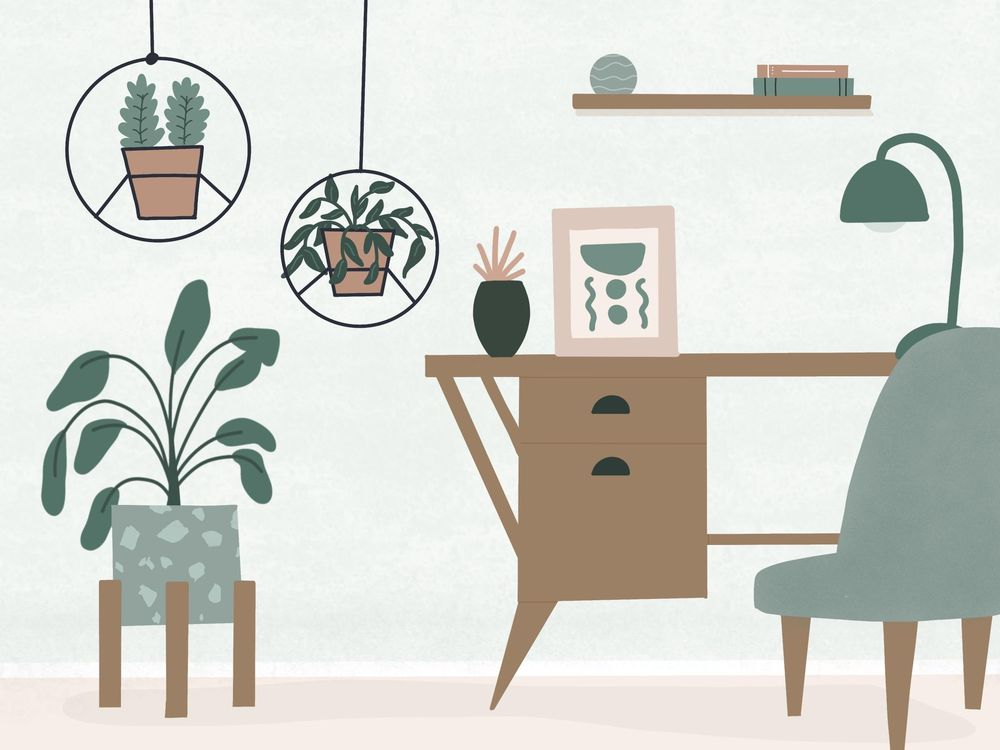 My plant-filled dream workspace - image 1 - student project