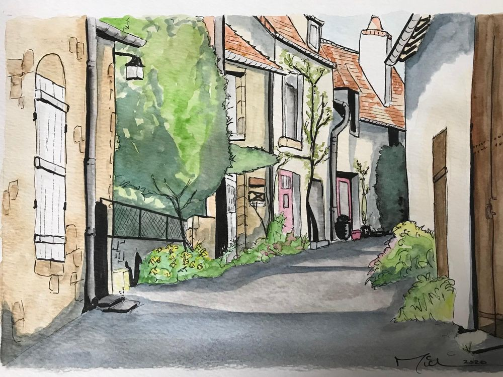 French Street in Watercolour - image 3 - student project