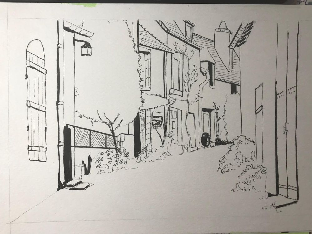 French Street in Watercolour - image 2 - student project