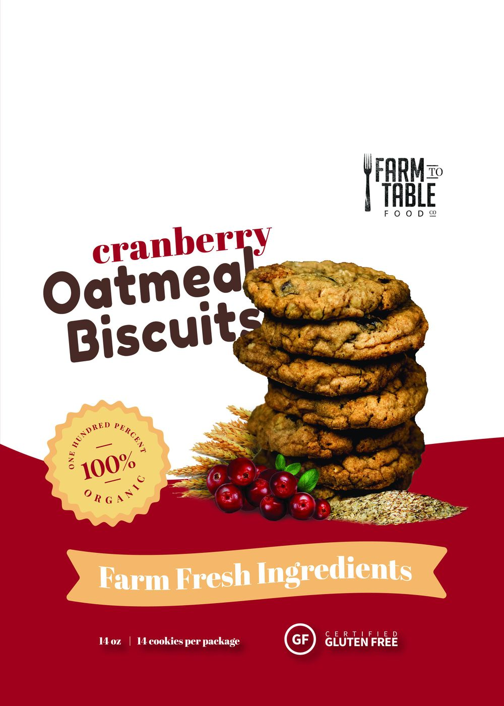 Cranberry Oatmeal Biscuits - image 1 - student project