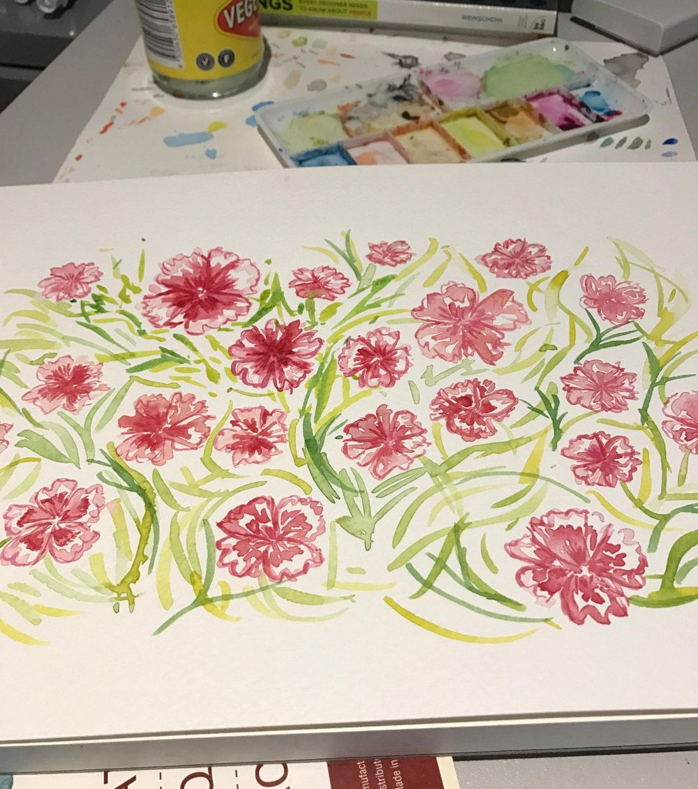 Watercolour florals - image 1 - student project