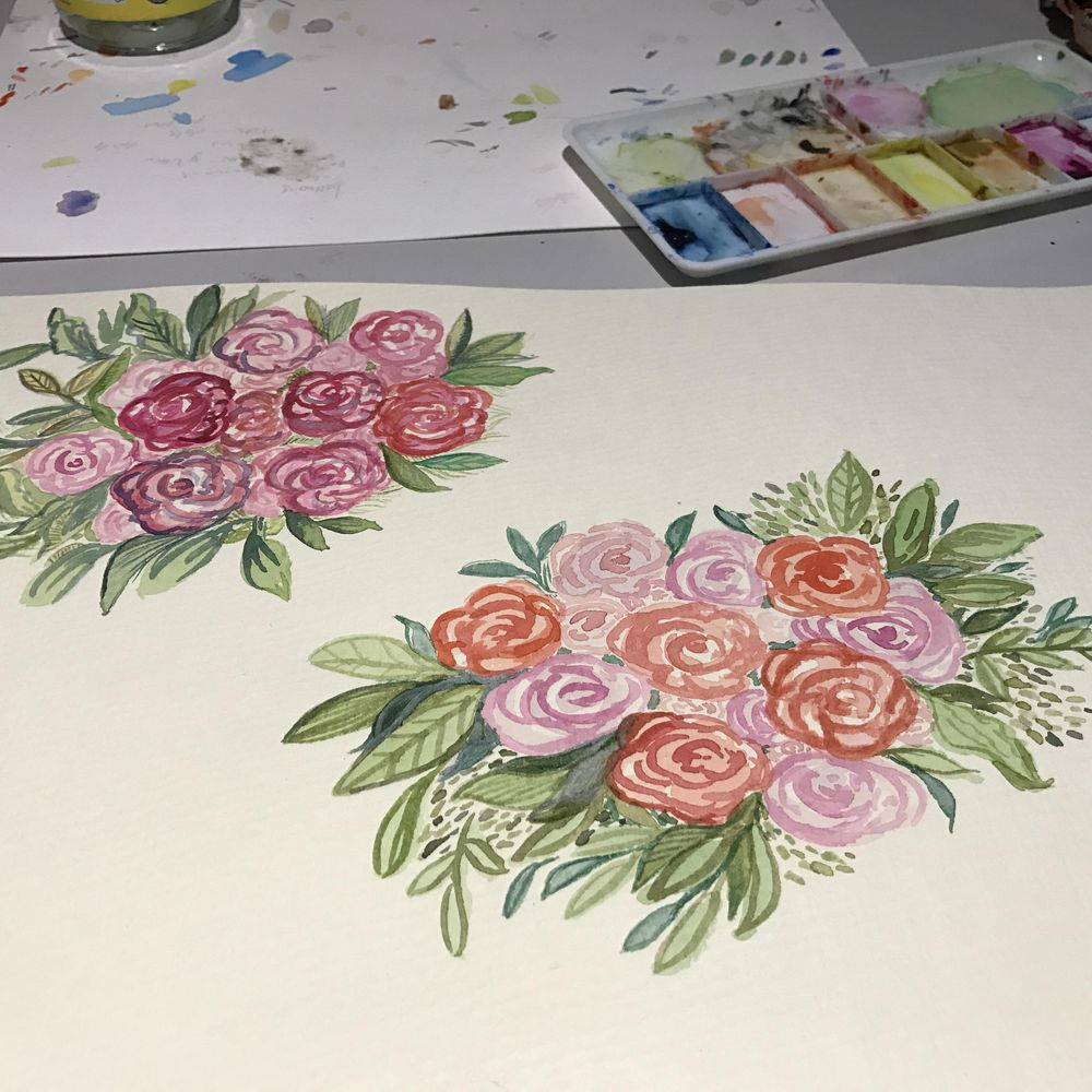 Watercolour florals - image 4 - student project