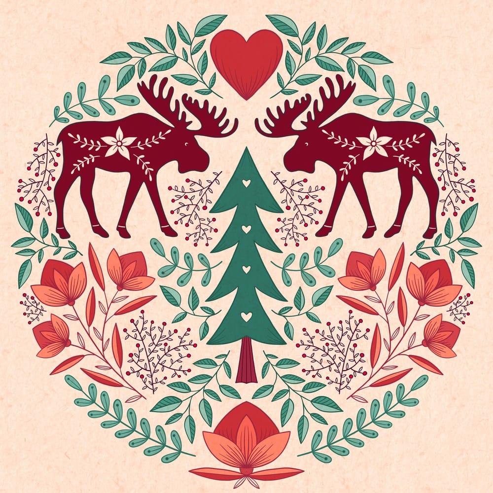 Folk Art Moose - image 1 - student project