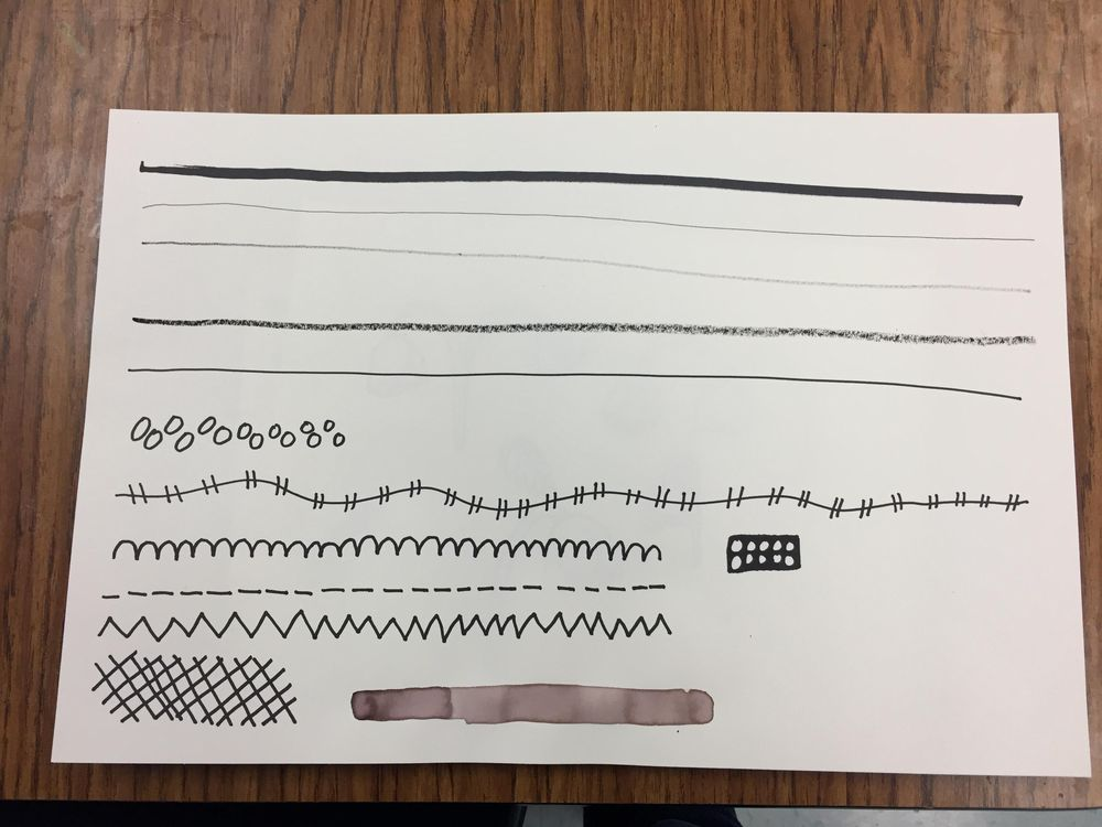 making marks....making brushes!! Loved this!!! - image 4 - student project