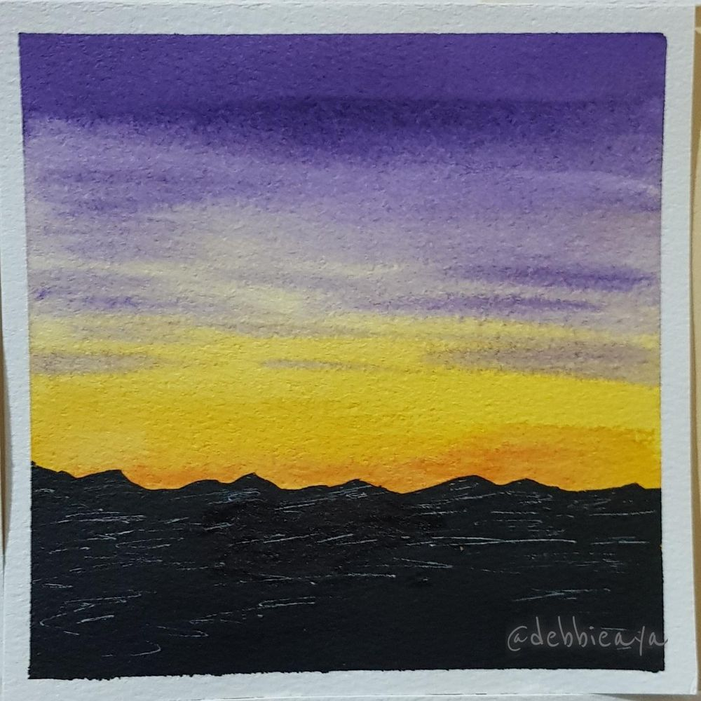 30 Day Watercolor Challenge:  Bold and Beautiful Skies - image 18 - student project