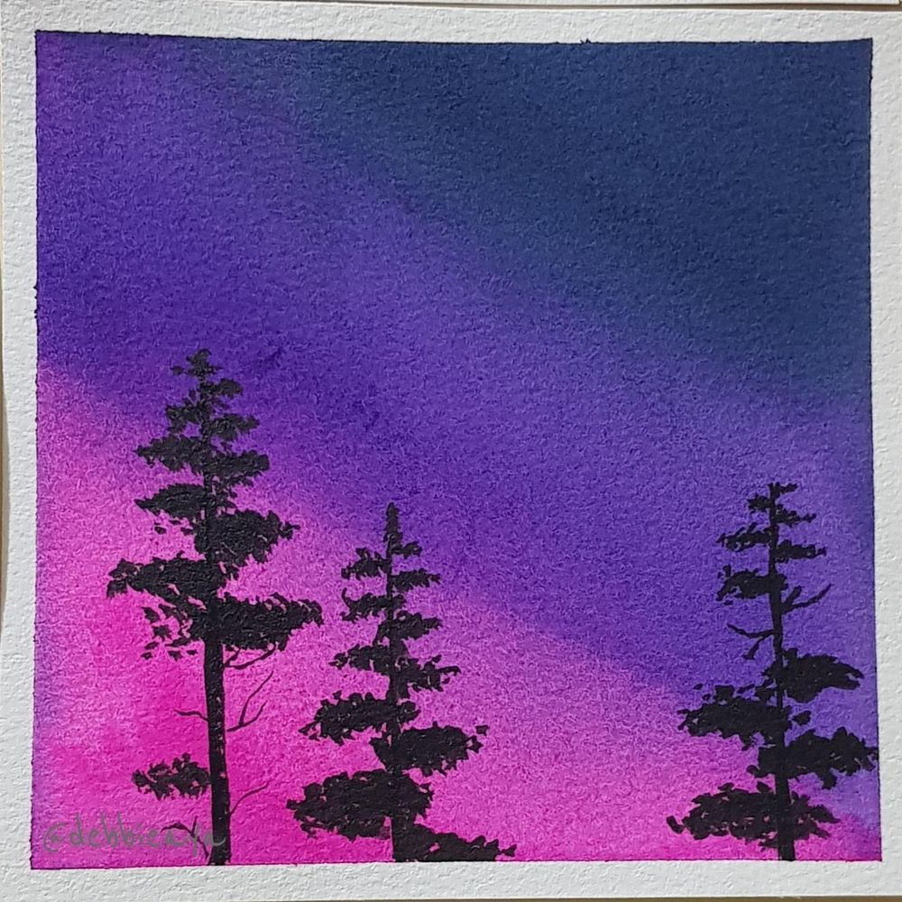 30 Day Watercolor Challenge:  Bold and Beautiful Skies - image 22 - student project