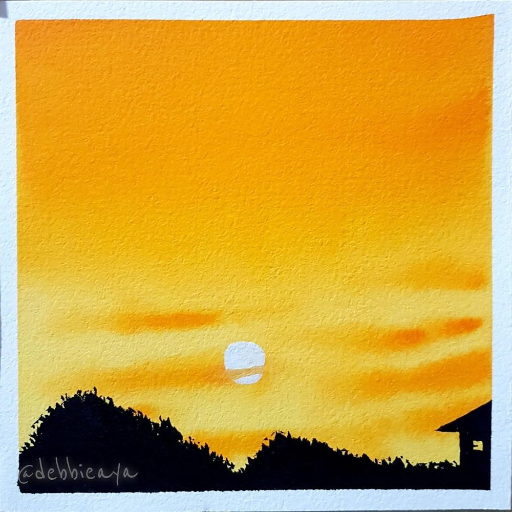 30 Day Watercolor Challenge:  Bold and Beautiful Skies - image 10 - student project