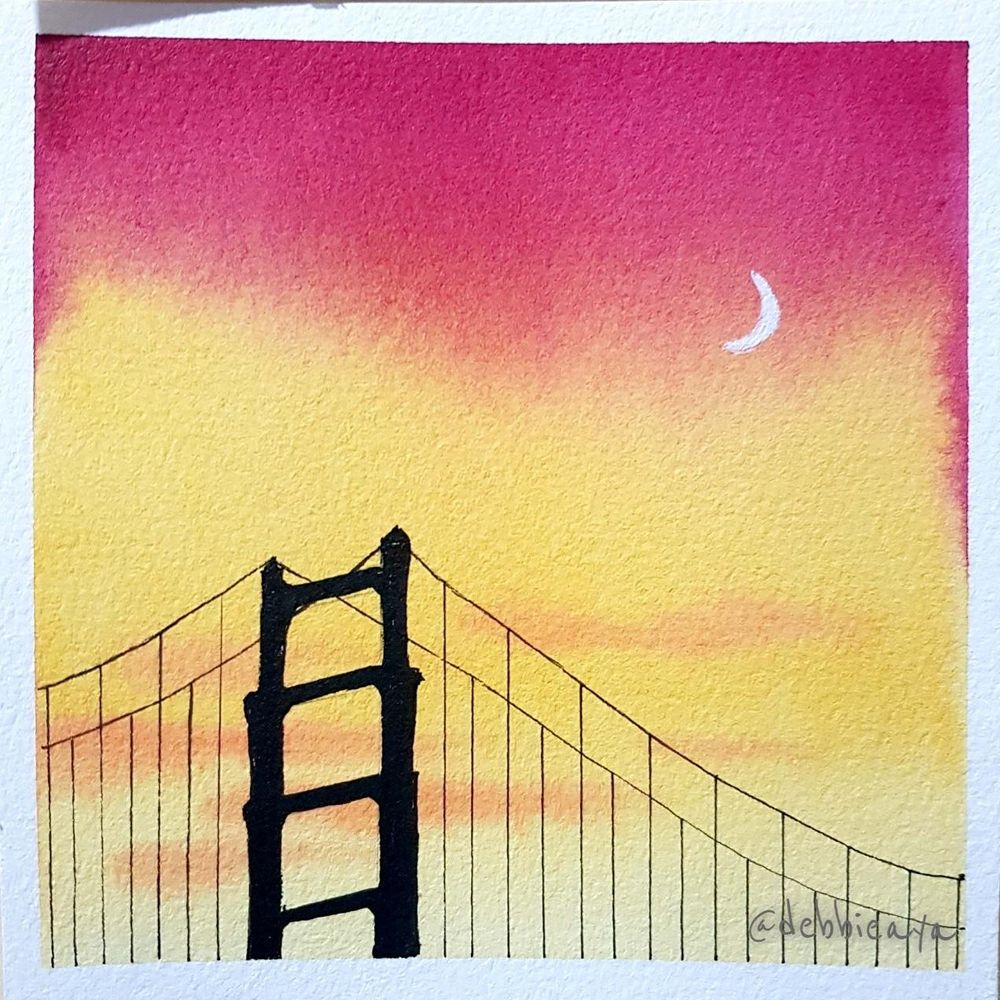 30 Day Watercolor Challenge:  Bold and Beautiful Skies - image 8 - student project