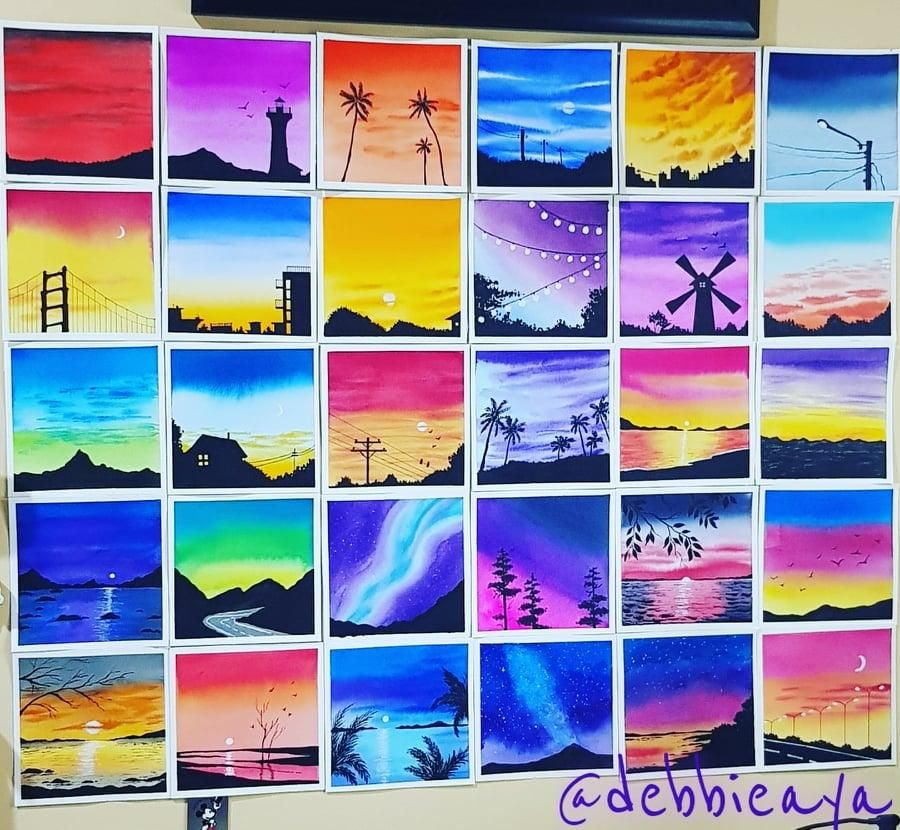 30 Day Watercolor Challenge:  Bold and Beautiful Skies - image 1 - student project