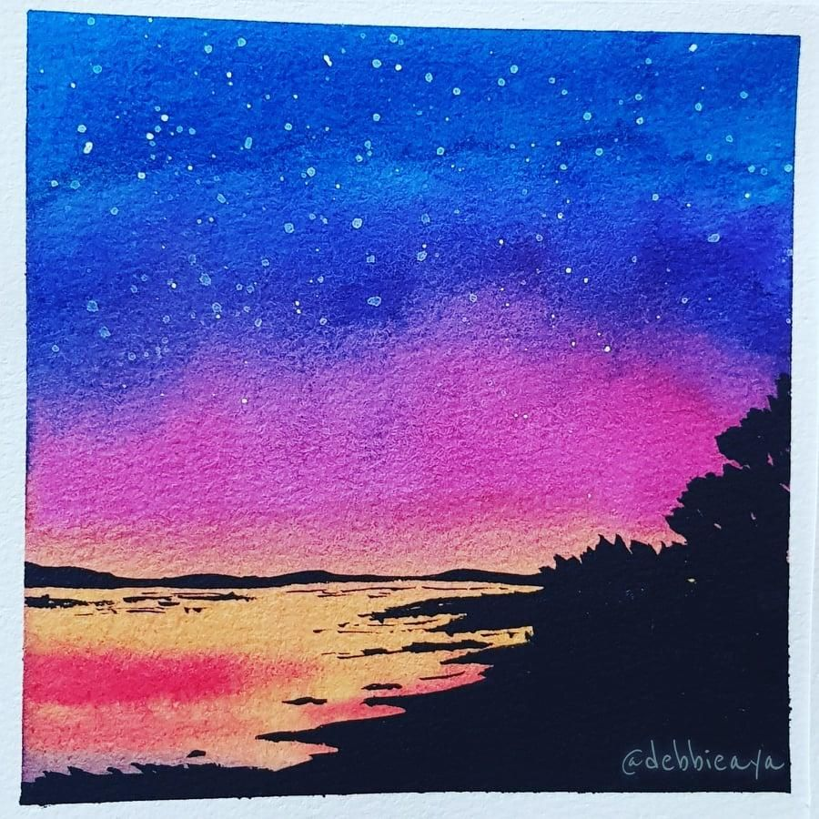 30 Day Watercolor Challenge:  Bold and Beautiful Skies - image 27 - student project