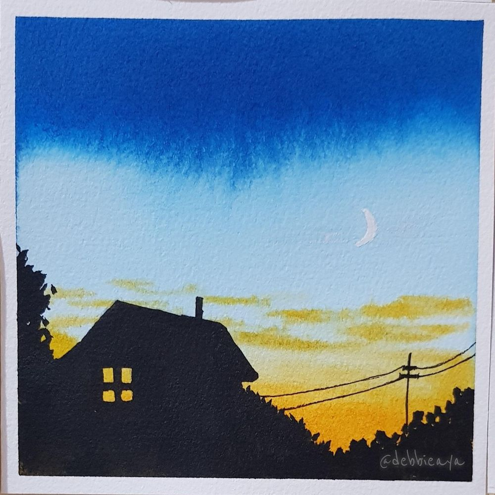 30 Day Watercolor Challenge:  Bold and Beautiful Skies - image 14 - student project