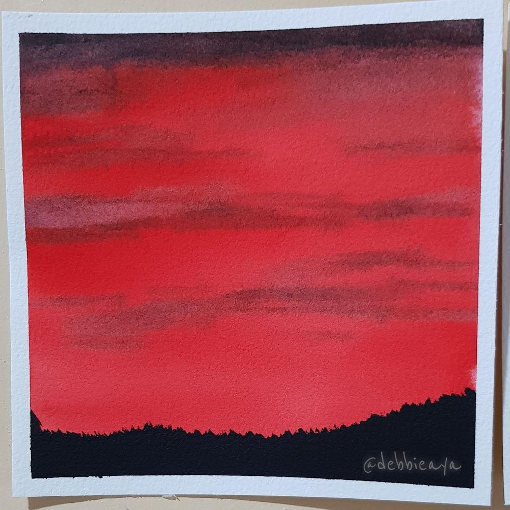 30 Day Watercolor Challenge:  Bold and Beautiful Skies - image 2 - student project