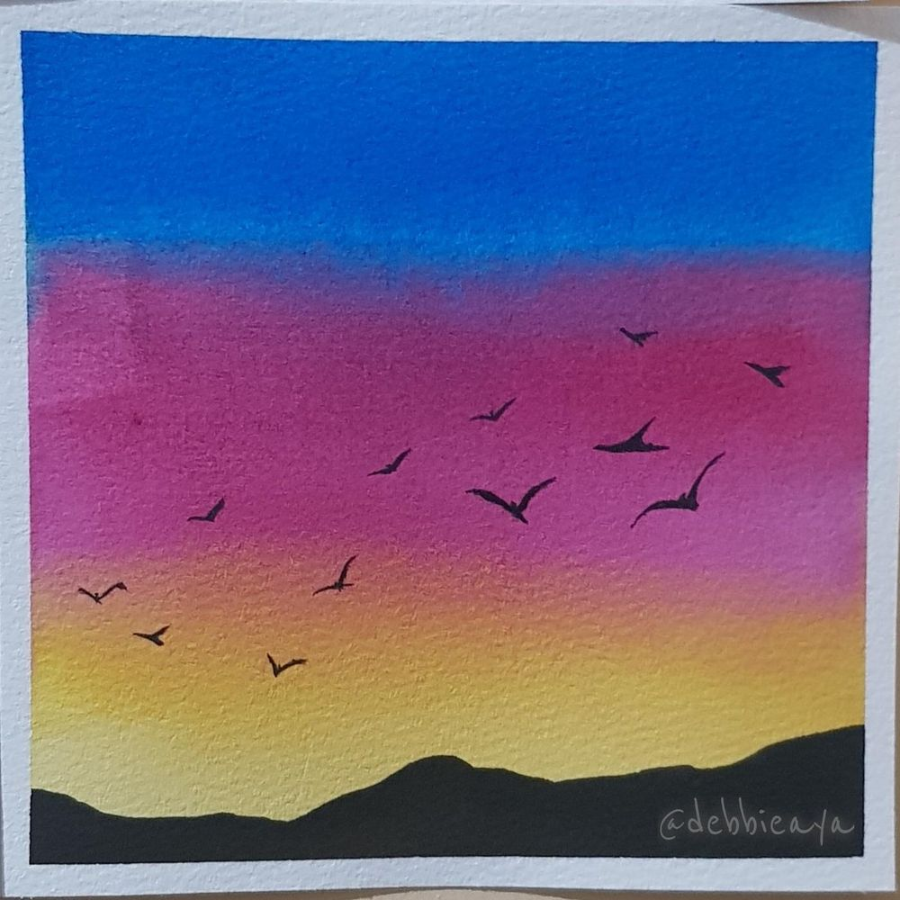 30 Day Watercolor Challenge:  Bold and Beautiful Skies - image 24 - student project