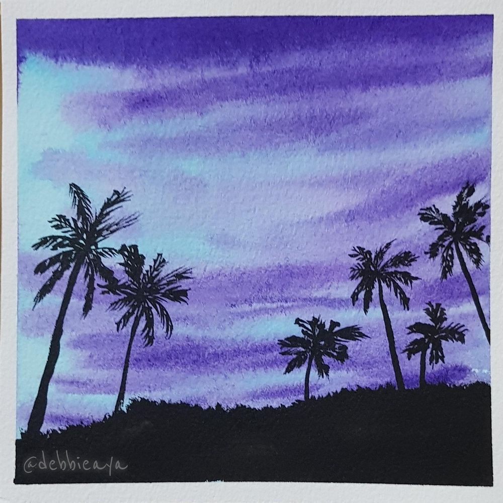 30 Day Watercolor Challenge:  Bold and Beautiful Skies - image 16 - student project