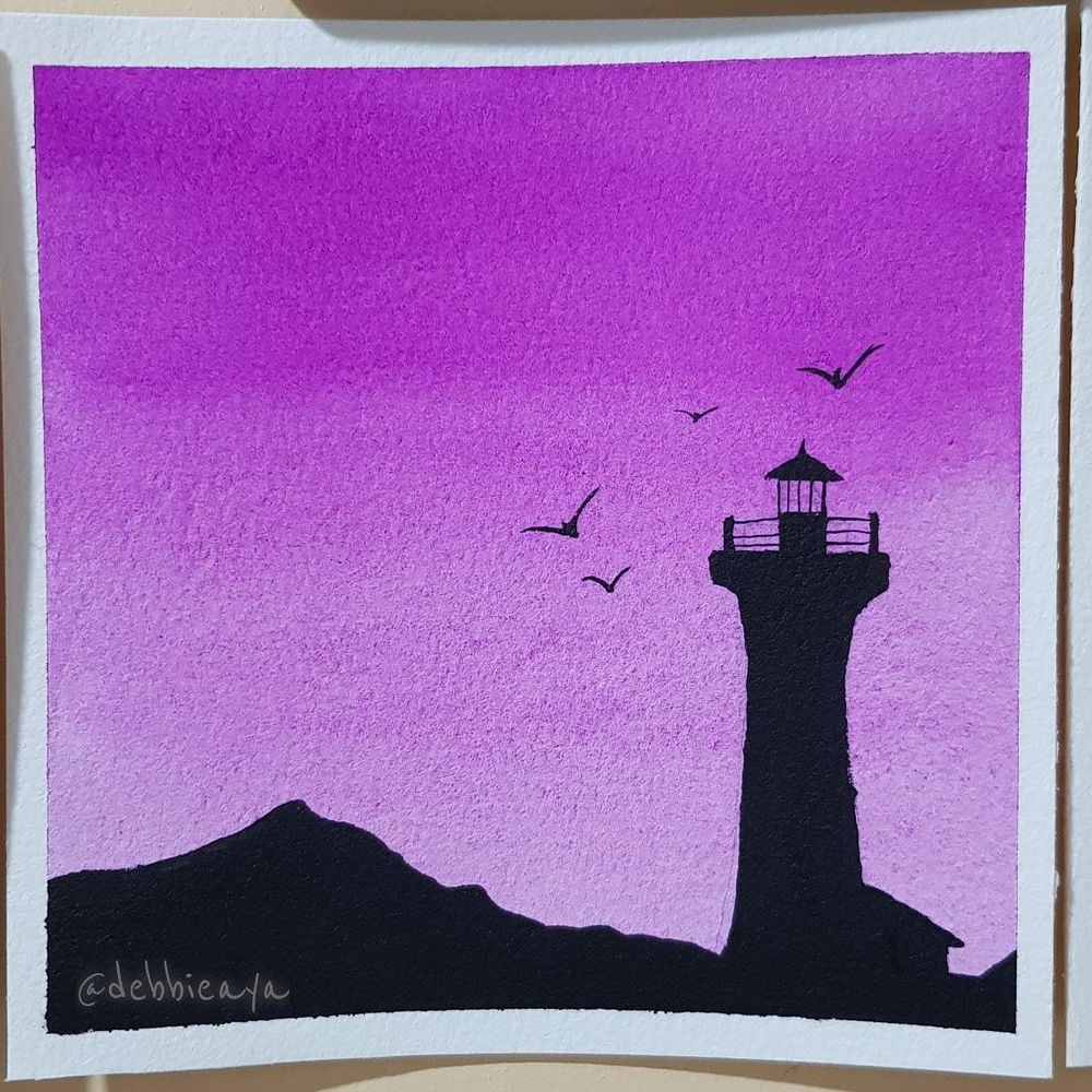30 Day Watercolor Challenge:  Bold and Beautiful Skies - image 3 - student project