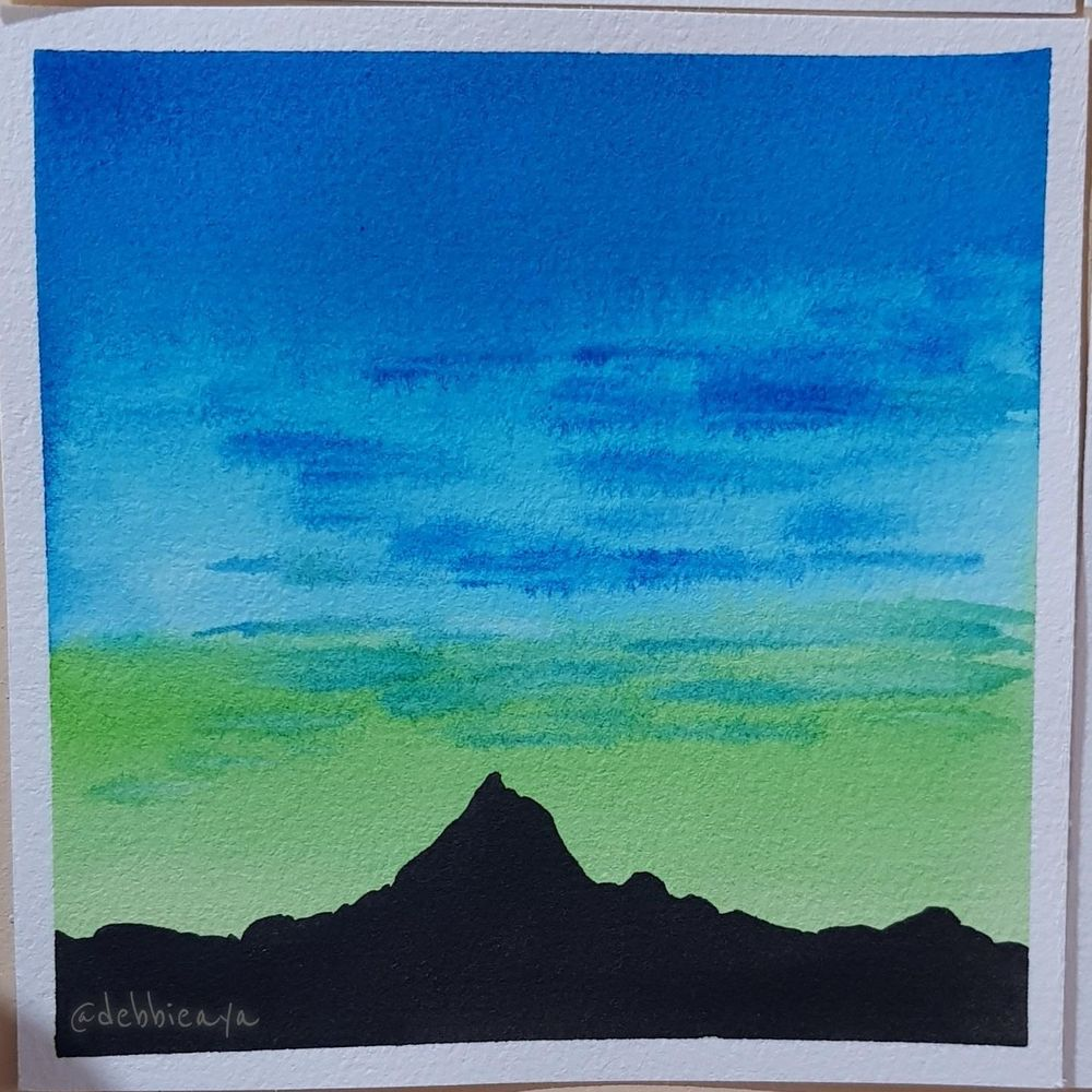 30 Day Watercolor Challenge:  Bold and Beautiful Skies - image 13 - student project