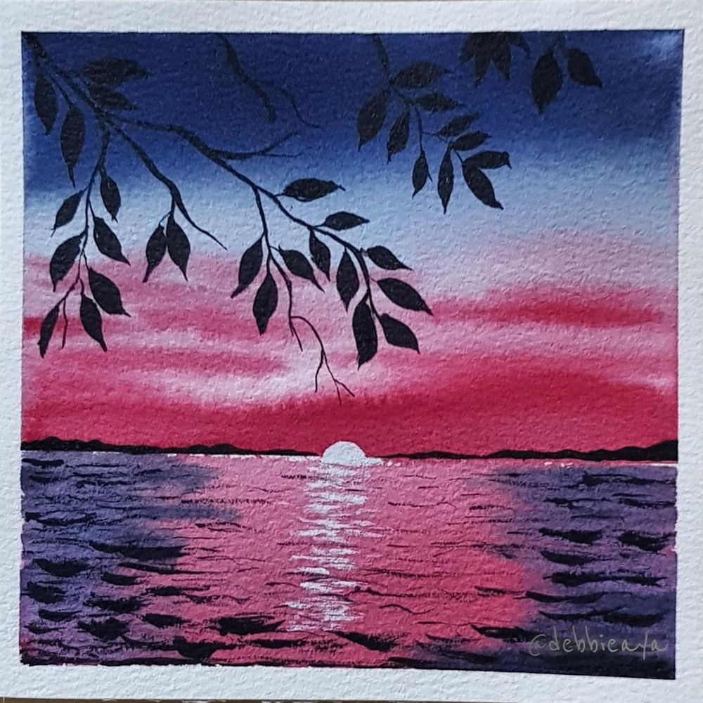 30 Day Watercolor Challenge:  Bold and Beautiful Skies - image 23 - student project