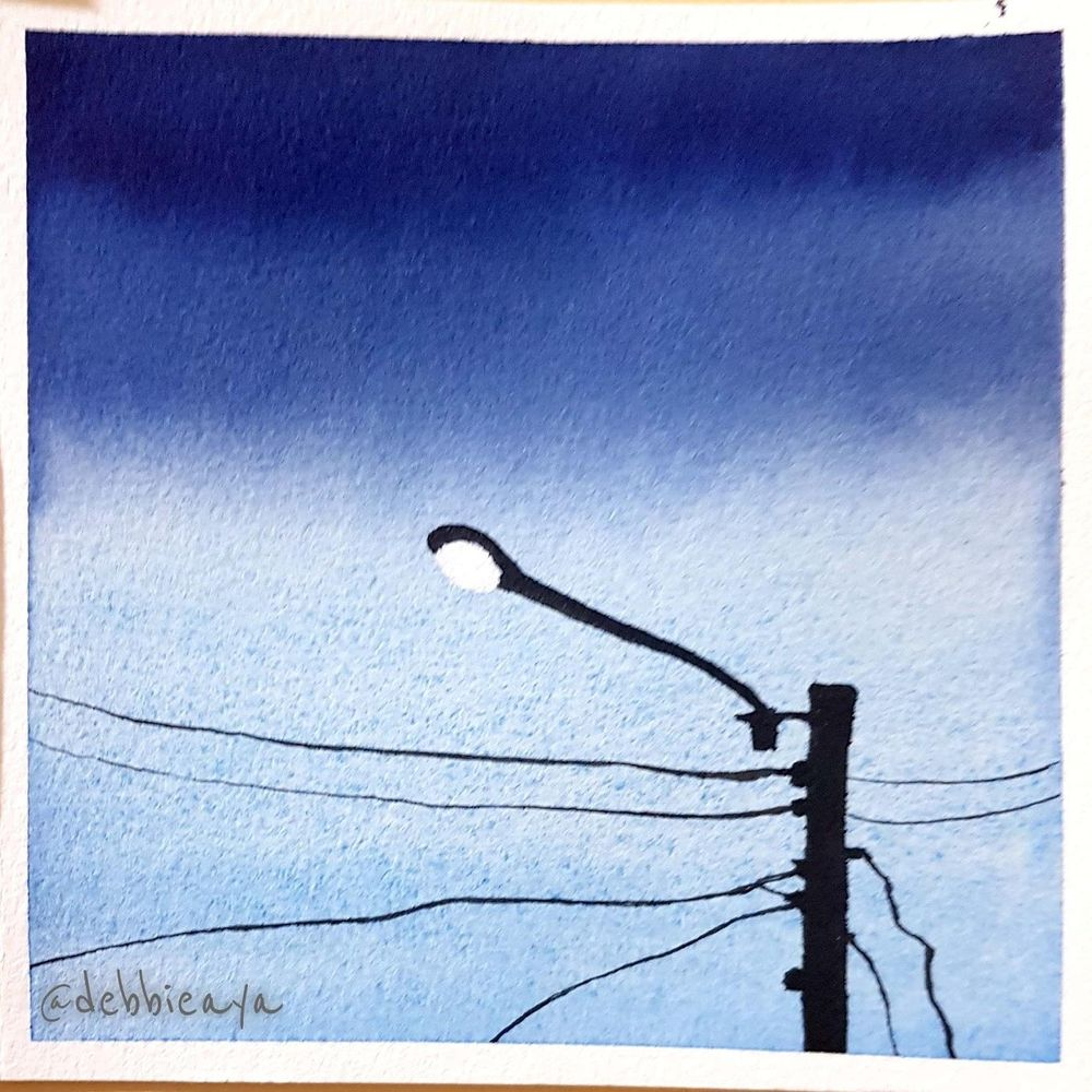 30 Day Watercolor Challenge:  Bold and Beautiful Skies - image 7 - student project
