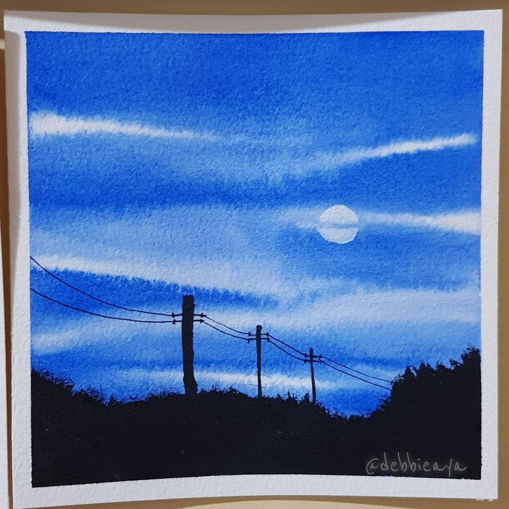 30 Day Watercolor Challenge:  Bold and Beautiful Skies - image 5 - student project