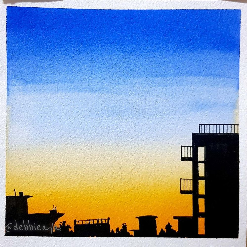 30 Day Watercolor Challenge:  Bold and Beautiful Skies - image 9 - student project