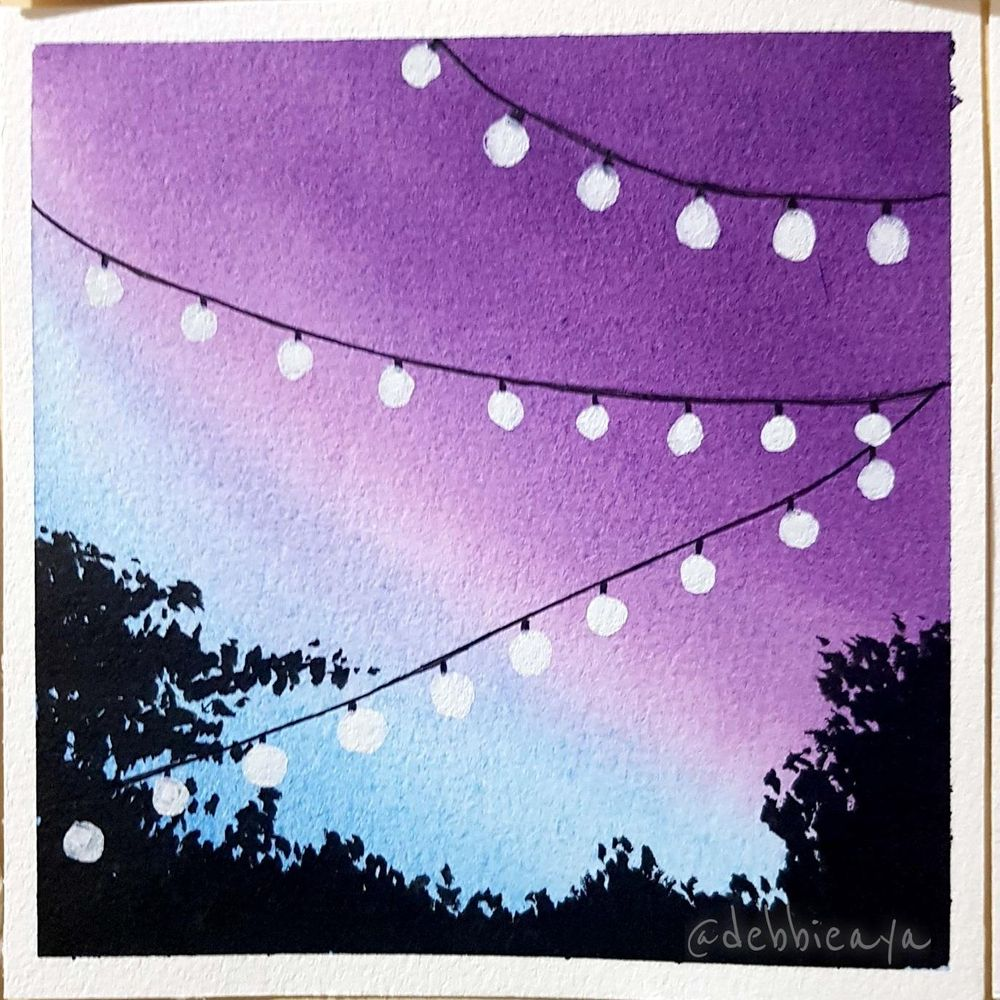 30 Day Watercolor Challenge:  Bold and Beautiful Skies - image 11 - student project