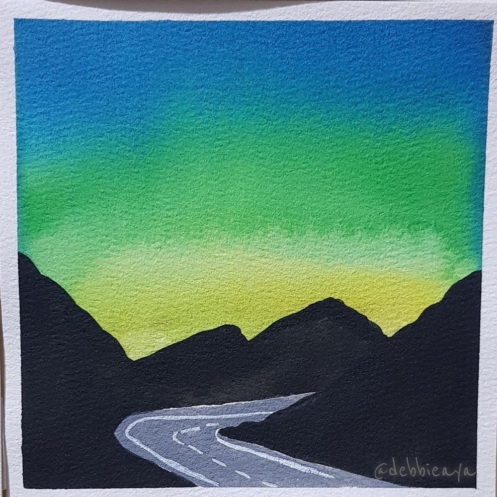30 Day Watercolor Challenge:  Bold and Beautiful Skies - image 20 - student project