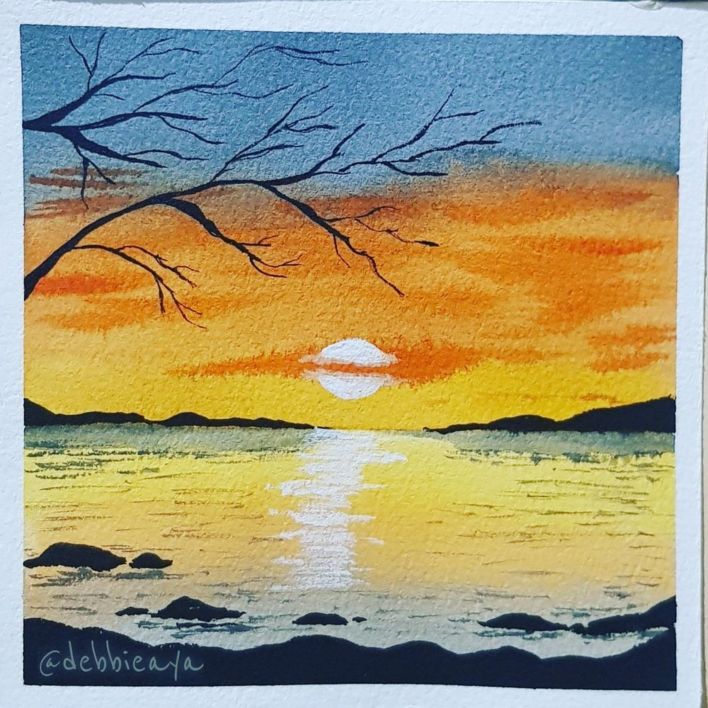 30 Day Watercolor Challenge:  Bold and Beautiful Skies - image 25 - student project