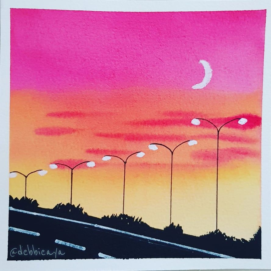 30 Day Watercolor Challenge:  Bold and Beautiful Skies - image 28 - student project