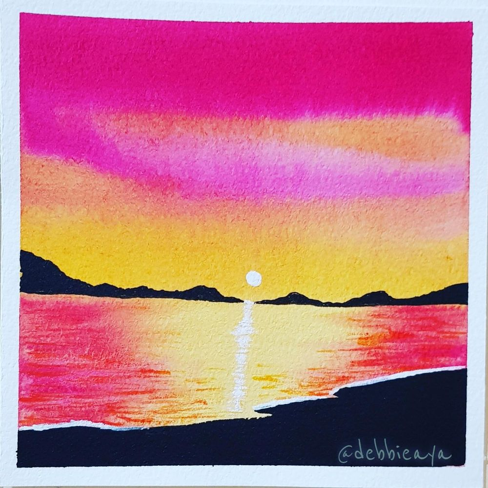 30 Day Watercolor Challenge:  Bold and Beautiful Skies - image 17 - student project