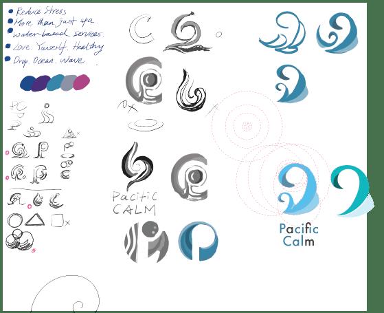Pacific Calm - logo design - image 2 - student project
