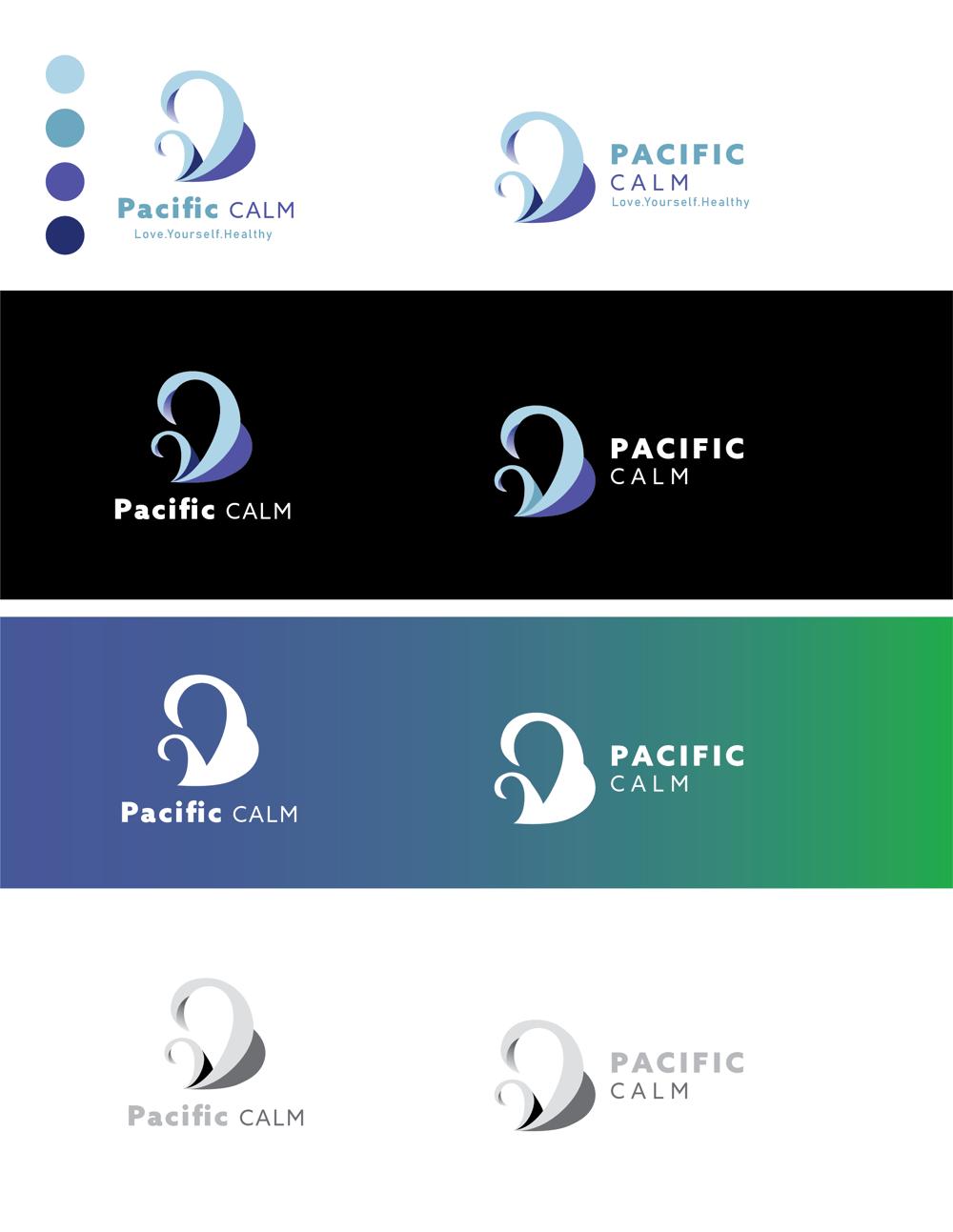 Pacific Calm - logo design - image 1 - student project