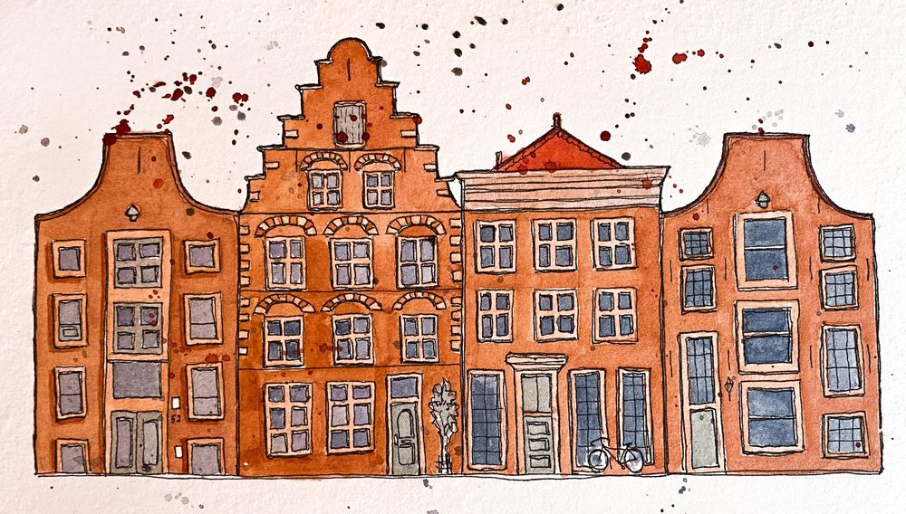 Urban Sketching - Haarlem - image 1 - student project