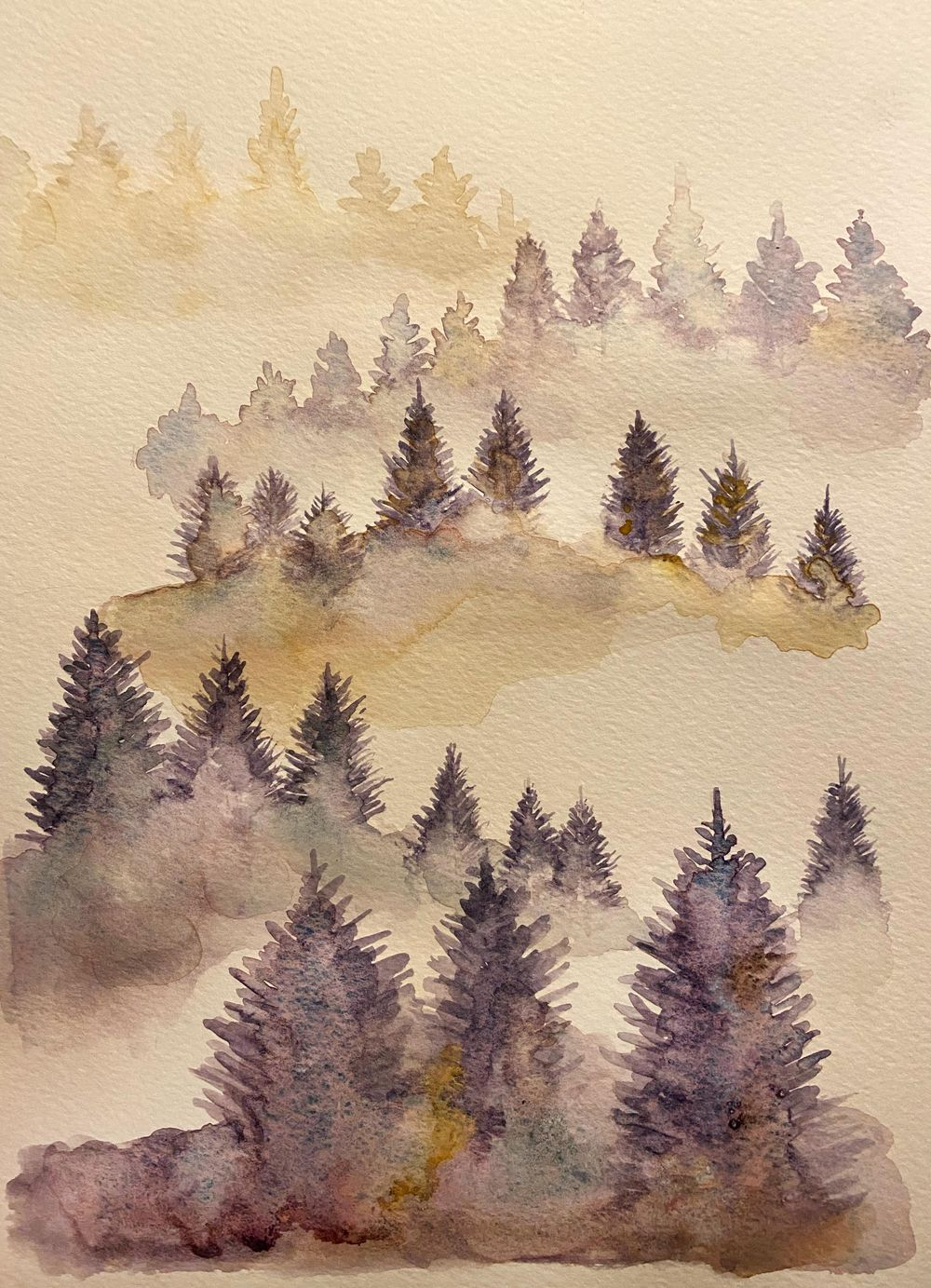 Misty Tree Landscape - image 2 - student project