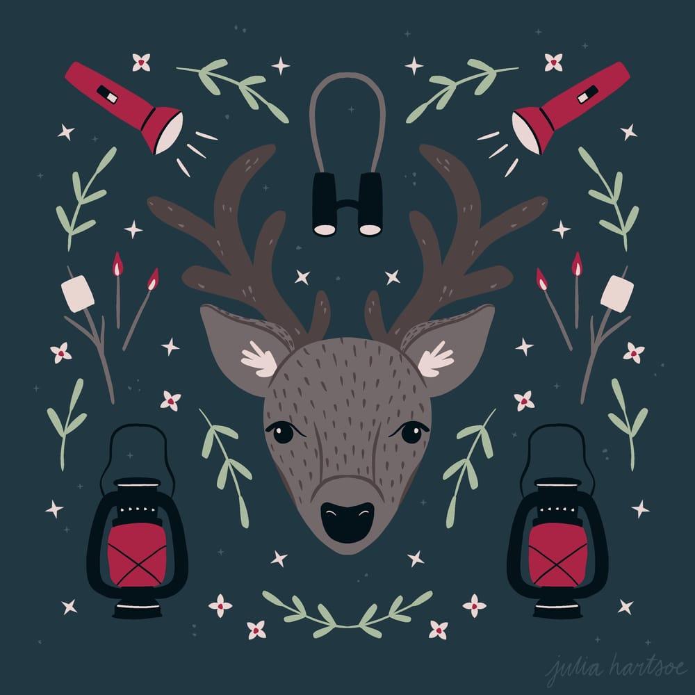 Deer symmetry illustration - image 10 - student project