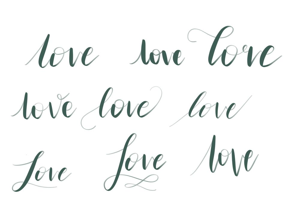 iPad lettering - image 6 - student project