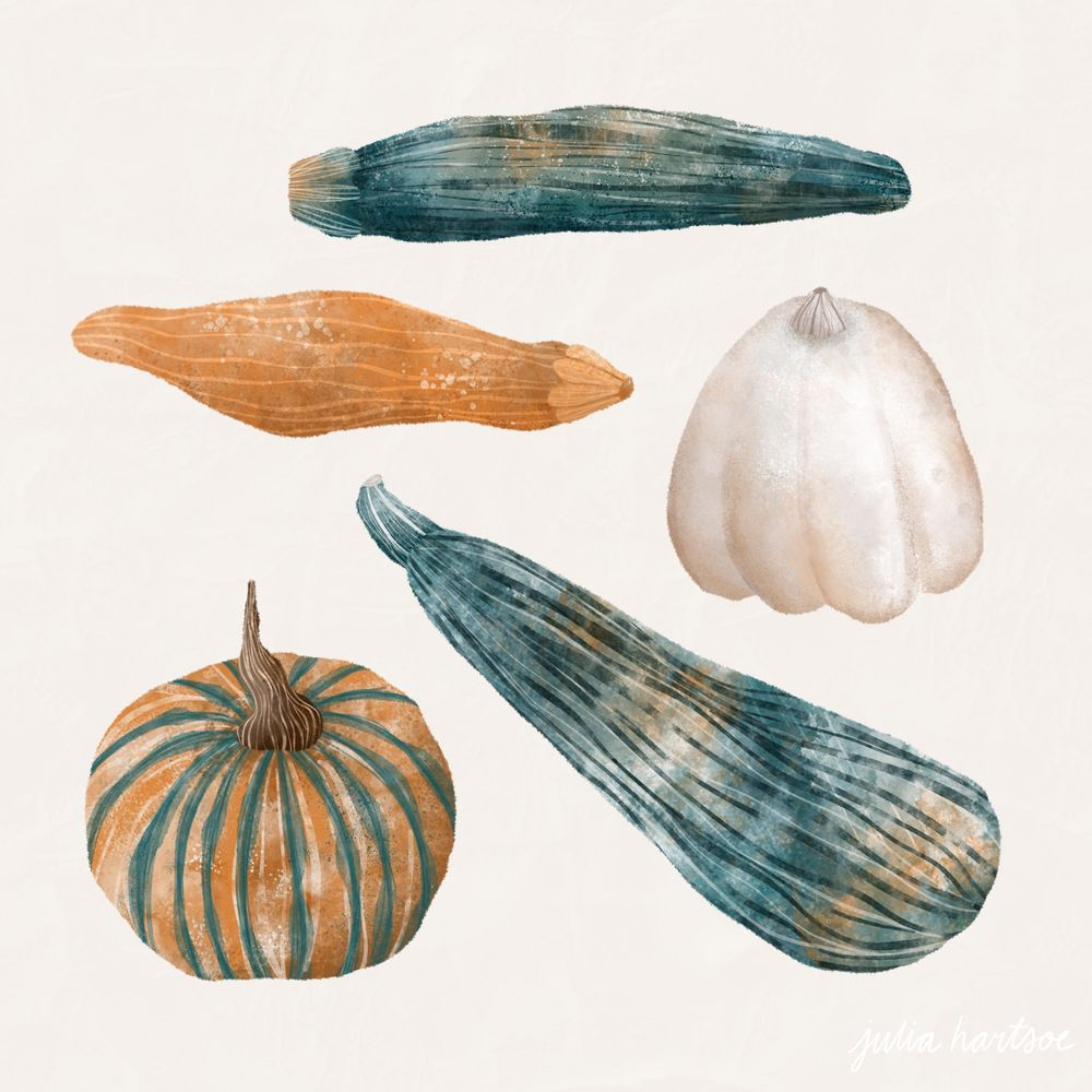 Watercolour gourds - image 8 - student project