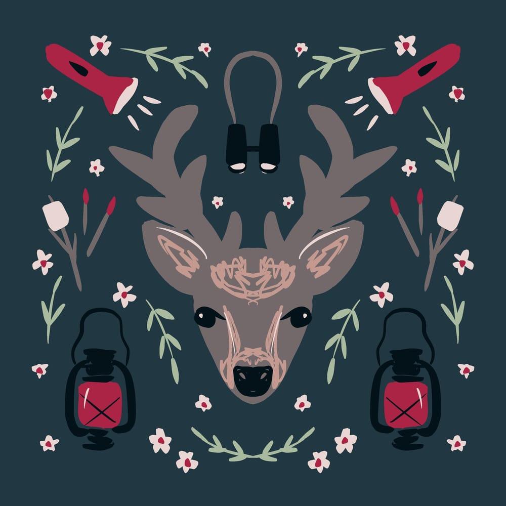 Deer symmetry illustration - image 8 - student project