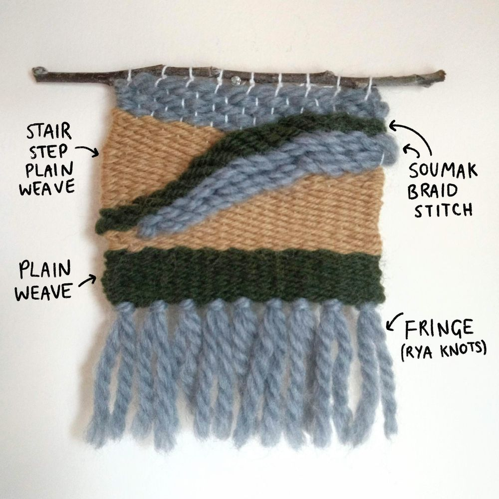 Using the soumak braid stitch in weaving - image 1 - student project
